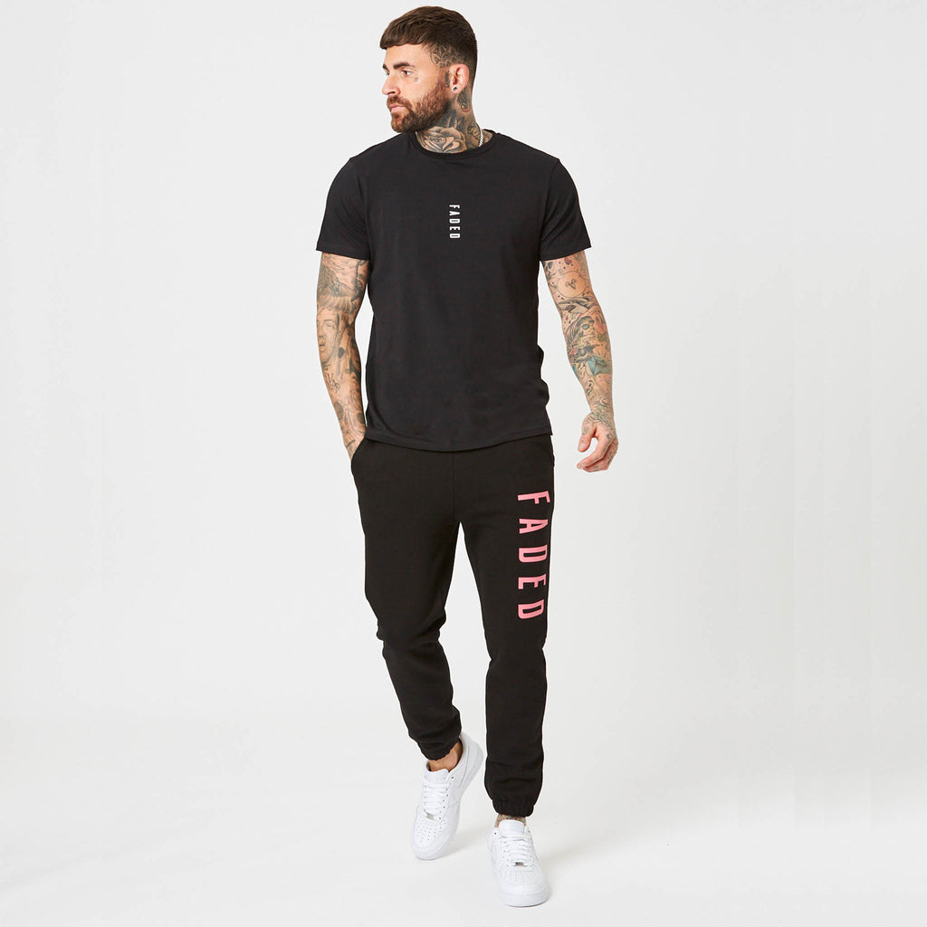 mens big branded joggers and t-shirt