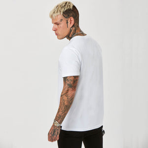 Side profile of Faded Rage Tee
