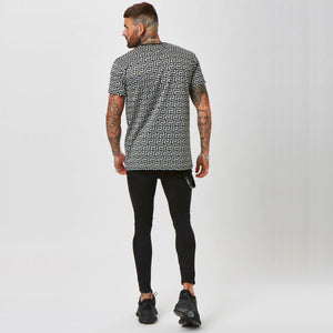 Lux Square Wave Tee | Grey