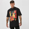 Retro graphic black Faded t-shirt