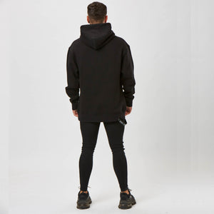 Plain back of mens graphic design hoodie