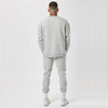 Oversized mens branded jumper and joggers in grey