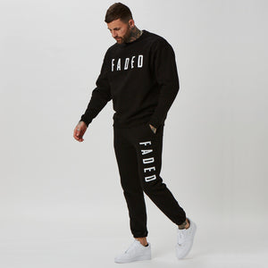 Matching branded jumper and jogger in black for men