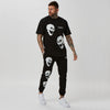 Matching tee and branded joggers for men with skull detail