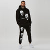 graphic tracksuit with branded joggers and hoodie