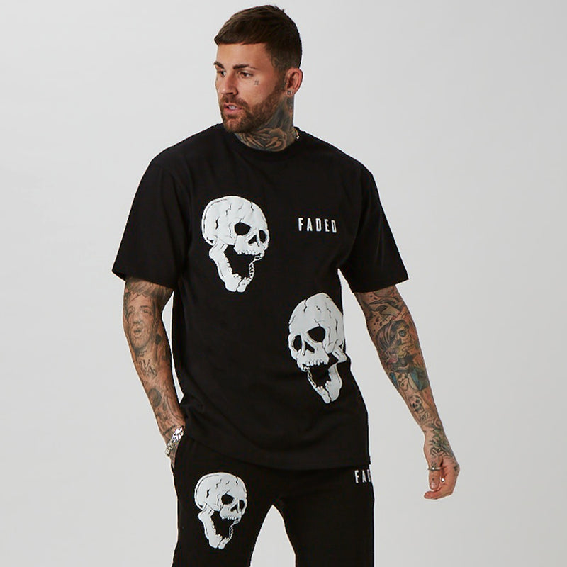 Skull graphic 'Joker' t-shirt with matching joggers