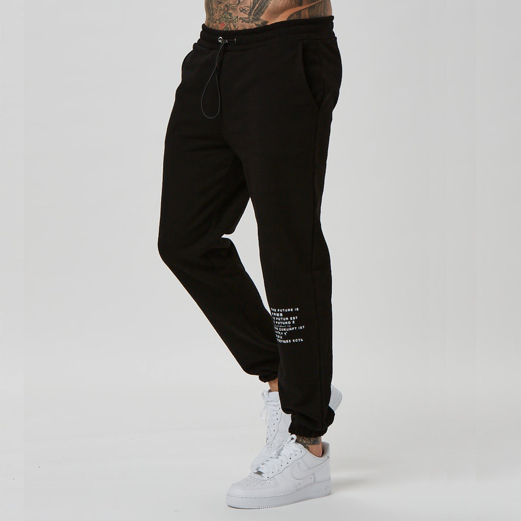 FADED text jogger with branded detail for men