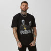 black priest graphic t-shirt for men