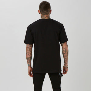 plain back of the black priest t-shirt