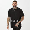Mens low logo FADED t-shirt in black