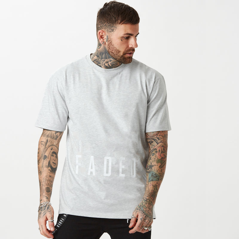 Mens grey t-shirt with low logo