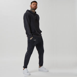 Mens FADED acid wash branded hoodie & joggers