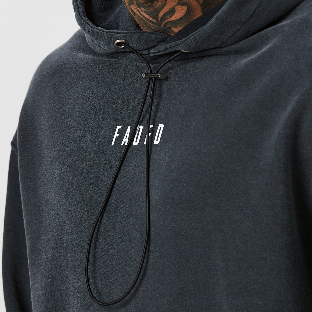 Utility Acid Wash Hoody | Black