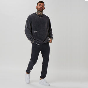 mens branded jumper and joggers in venom wash