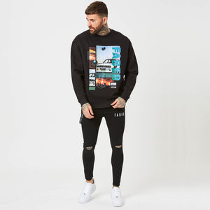 Mens graphic sweatshirt and black jeans from FADED