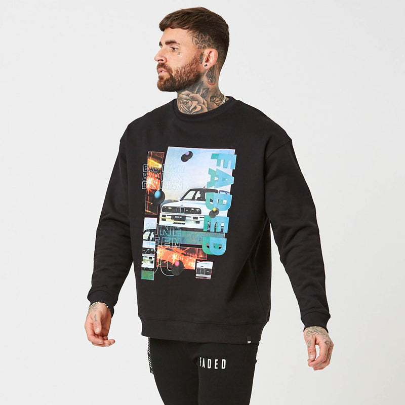 Mens Graphic jumper in black Zimmer Design