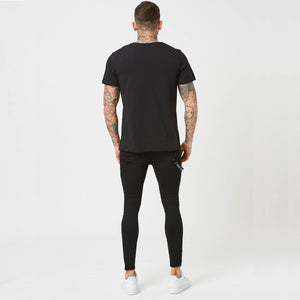 Muscle Fit Big Logo Tee | Black