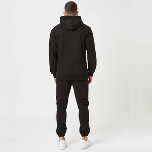 Plain back of Heavyweight branded Hoodie and joggers