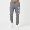 mens branded joggers in dark grey