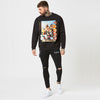 mens graphic jumper with black ripped jeans