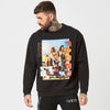 Mens graphic jumper with power text