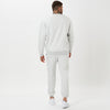 back profile of mens snow marl full tracksuit