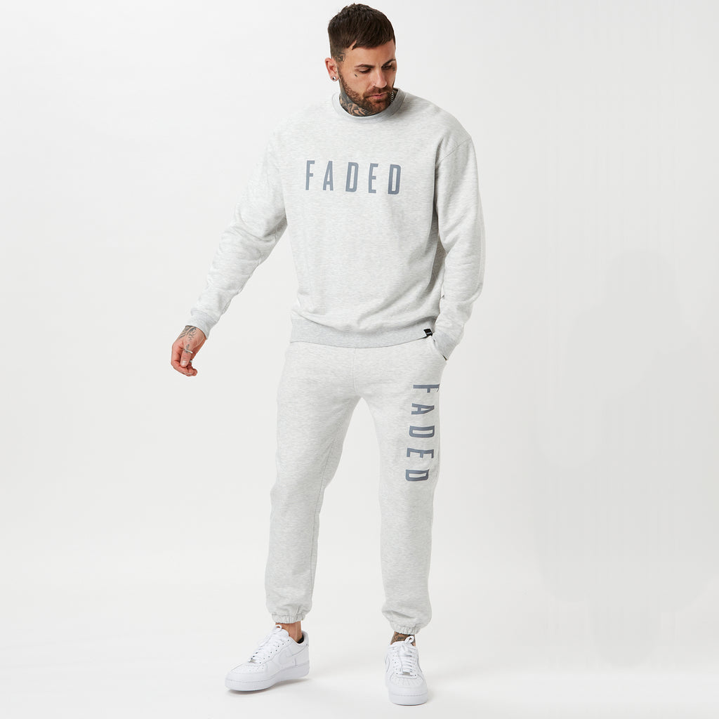 Mens branded full tracksuit in snow marl
