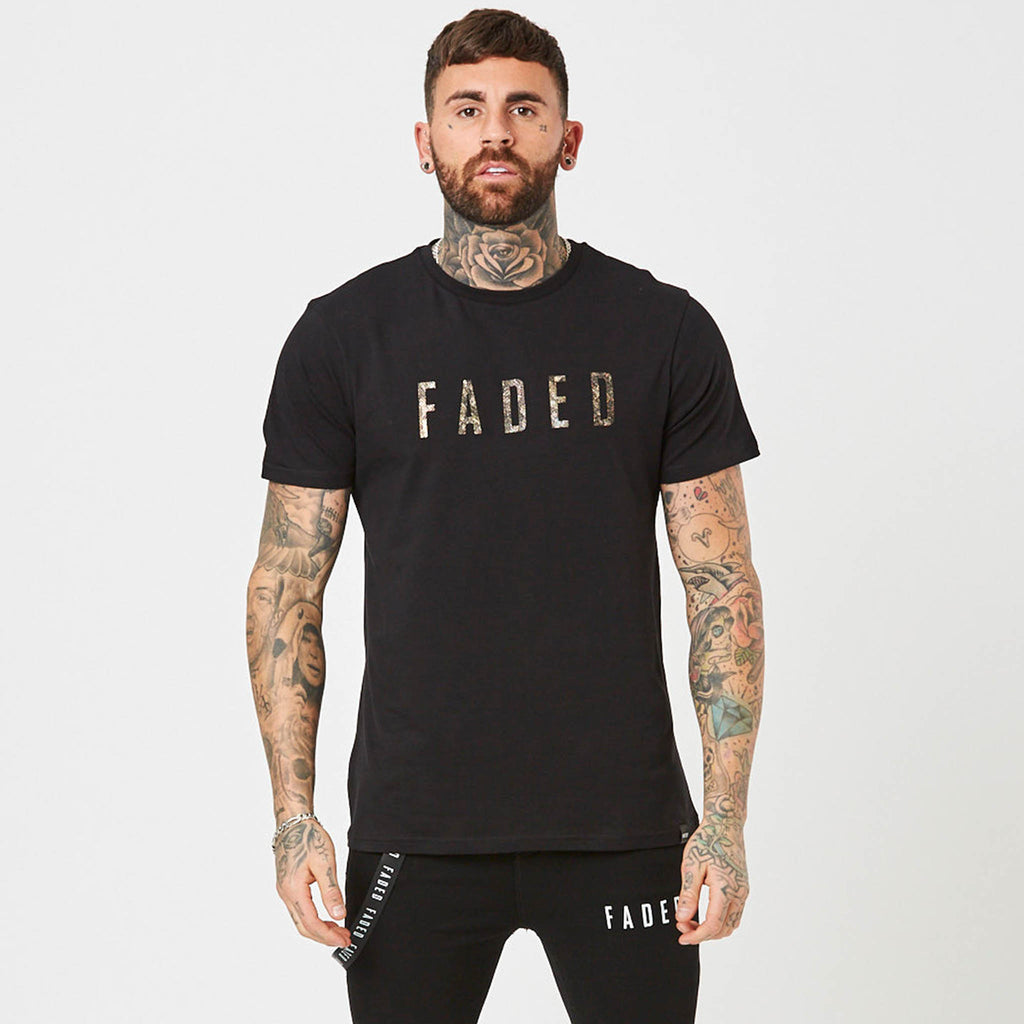 Mens snakeskin logo graphic t-shirt