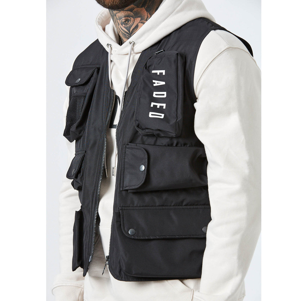 Utility Pocket Vest | Black