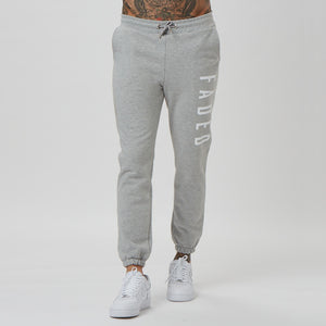 Mens big branded joggers in grey