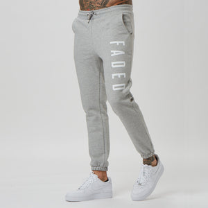 Mens branded jogger with big logo - grey
