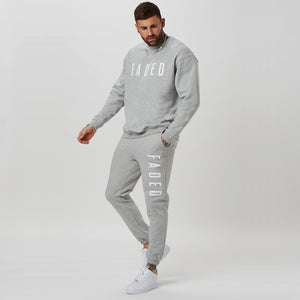 mens FADED tracksuit in grey - branded joggers and jumper