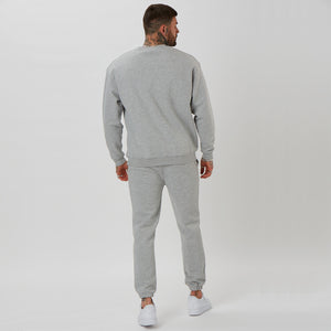 back profile on mens branded shin jogger and jumper