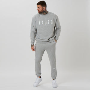 Matching grey branded jumper and joggers (heavyweight)