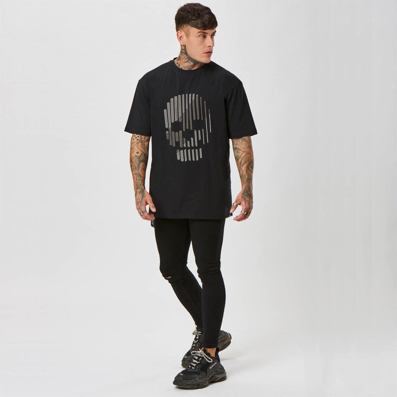 Studded skull graphic t-shirt