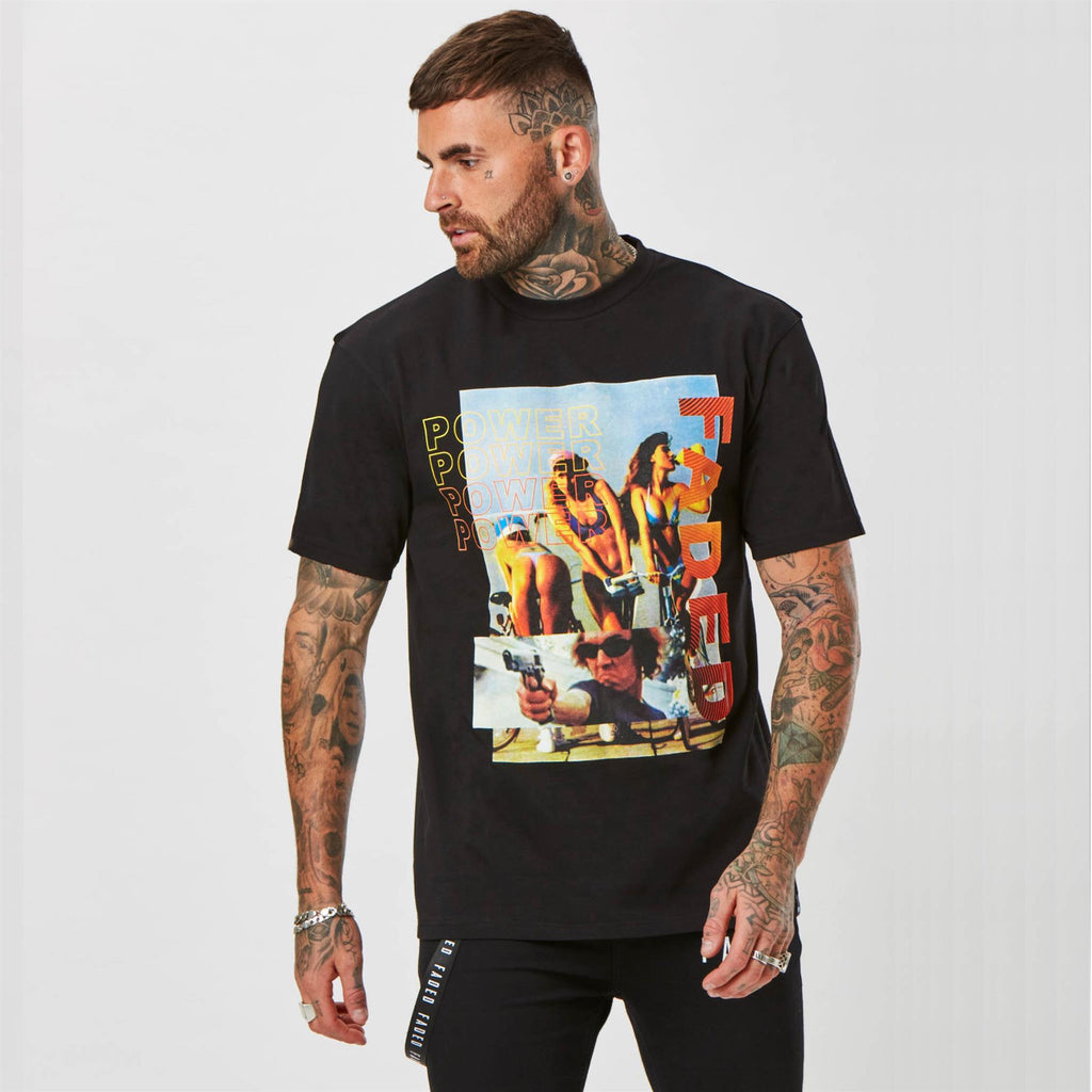 Mens graphic 'Power' T-shirt