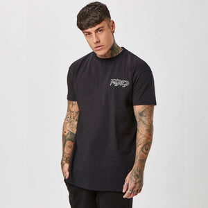 Plain black Faded streetwear tee