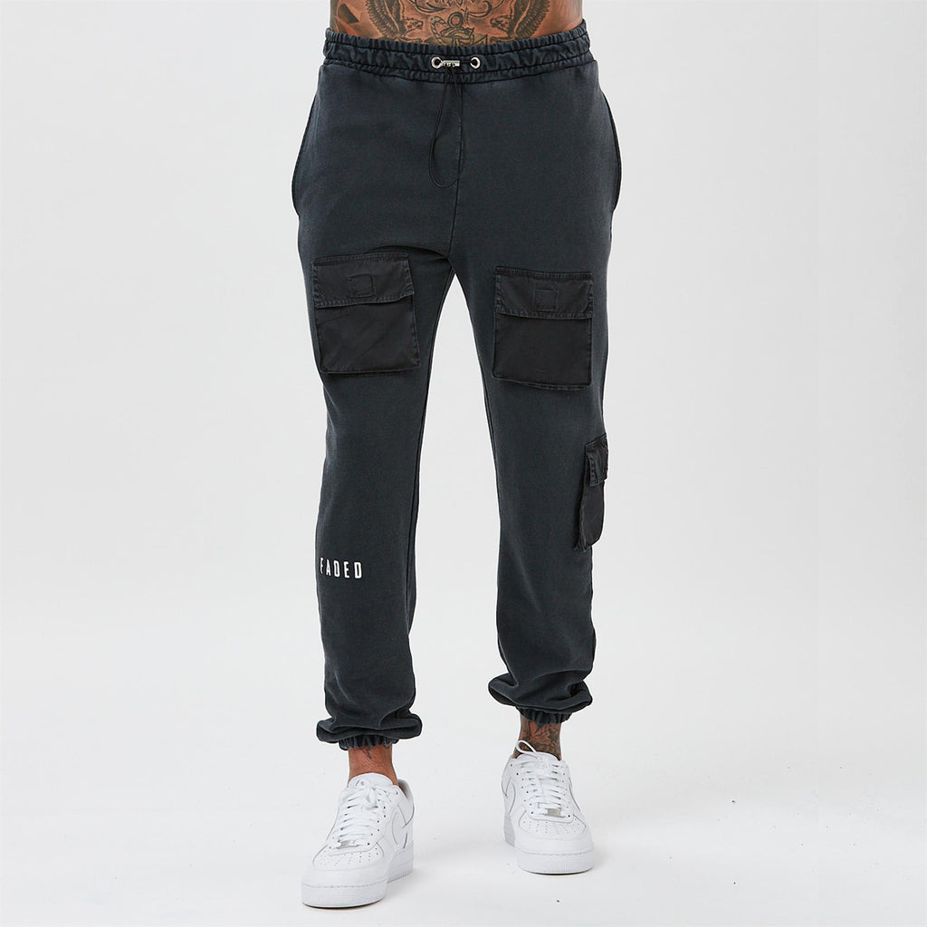 Utility Acid Wash Jogger | Black