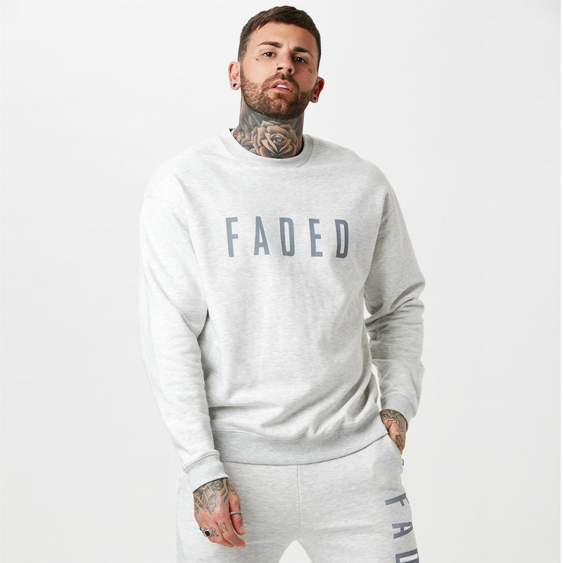 Snow marl mens branded jumper