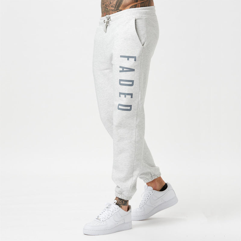 snow marl mens branded joggers