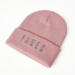 Faded Logo Beanie | Pink