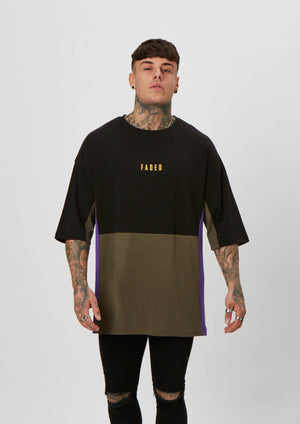 Space Tee | Black Khaki