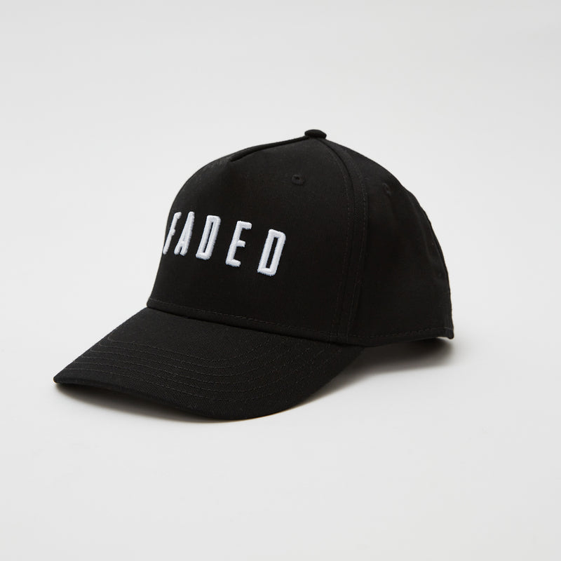 Faded Logo Curved Peak Cap | Black