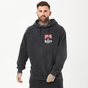 male model wearing mens nahbro graphic hoodie