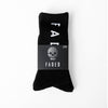 Faded Logo Socks | Black