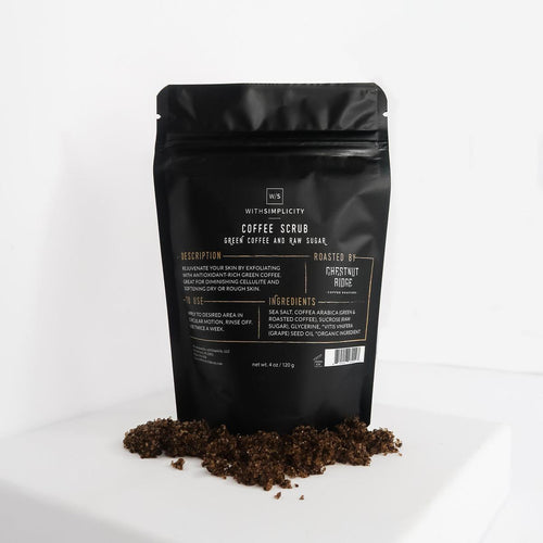 withSimplicity natural organic coffee body scrub
