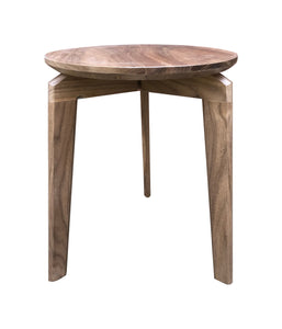 Side Table Modern Round by CW Furniture Walnut Maple Birch Oak Custom Handmade End Table Accent Three Leg Living Room Bedroom