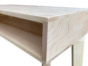 Coffee Table Wood Modern by CW Furniture with Shelf Custom Handmade Walnut Maple Oak Birch Minimalist Living Room Sofa Couch