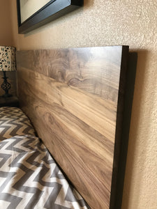 Walnut Headboard Modern by CW Furniture King Queen Full Twin Size Custom Handmade Solid Hardwood Minimalist Legs or Wall Mount French Cleat