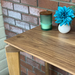 Hallway Console Table Modern by CW Furniture Maple Oak Walnut Birch Custom Entryway Hallway Dining Room Standing Desk Solid Hardwood Handmade